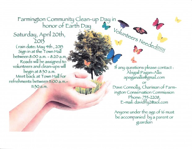 Farmington Community Clean-up Flyer